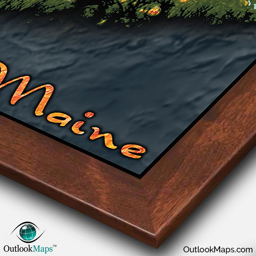 Topography Map Of Virginia.Maine Topography State Map 3d Colorful Physical Terrain