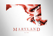 Artistic Poster of Maryland Map