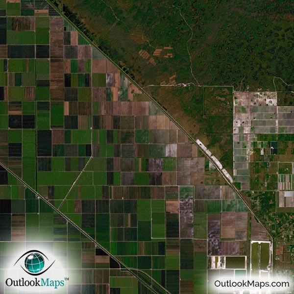 miami  fl area satellite map print