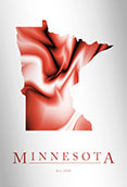 Artistic Poster of Minnesota Map