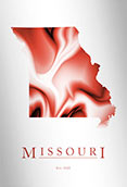 Artistic Poster of Missouri Map