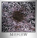 Aerial Image Satellite Map of Moscow Poster