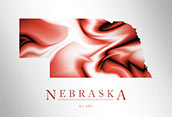 Artistic Poster of Nebraska Map