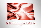 Artistic Poster of North Dakota Map