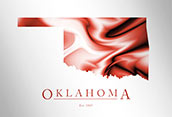 Artistic Poster of Oklahoma Map