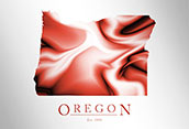 Artistic Poster of Oregon Map