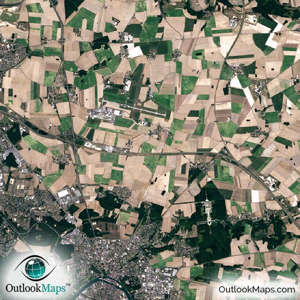 paris aerial map detail