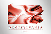 Artistic Poster of Pennsylvania Map