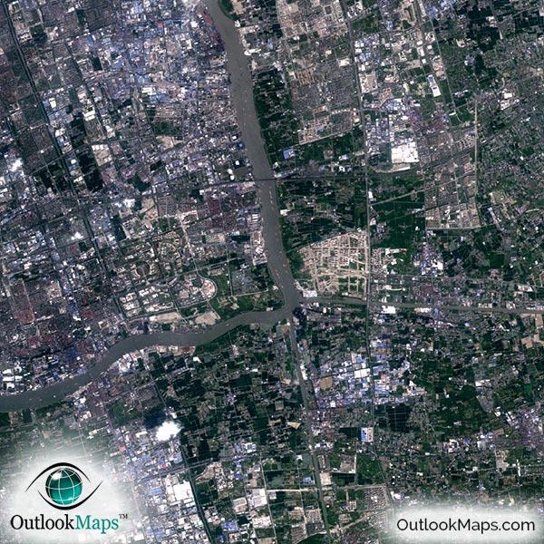 shanghai aerial map detail