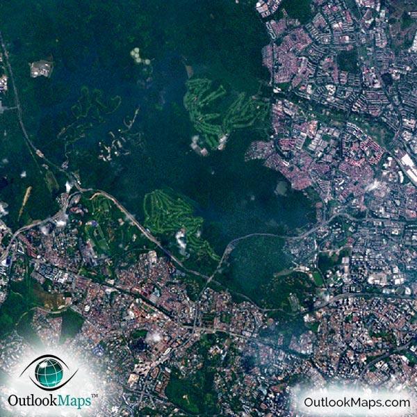 singapore aerial map detail