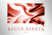 Artistic Poster of South Dakota Map