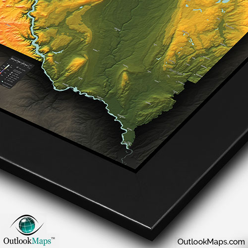 South Dakota Topography Map  Physical Terrain in Bold Colors