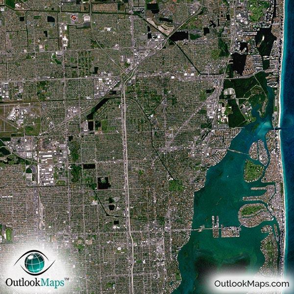 Detail Map Of Florida.South Florida Satellite Map