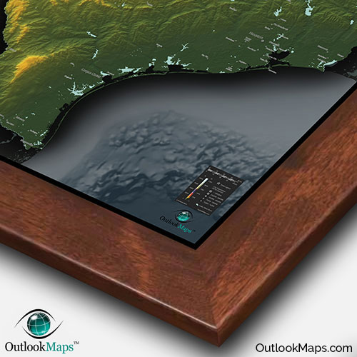 Physical Texas Map State Topography In Colorful D Style - 3d us map elevation