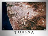 Aerial Image Satellite Map of Tijuana Poster