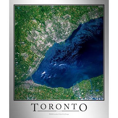Toronto canada satellite map print aerial image poster gumiabroncs Choice Image