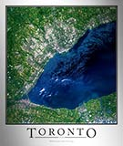 Aerial Image Satellite Map of Toronto Poster