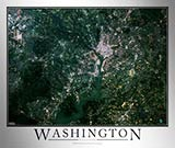 Aerial Image Satellite Map of Washington DC Area Poster