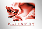 Artistic Poster of Washington Map