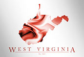 Artistic Poster of West Virginia Map