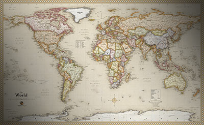 World antique style map current map in old vintage map style world antique style map gumiabroncs