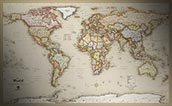 World Antique Style Map