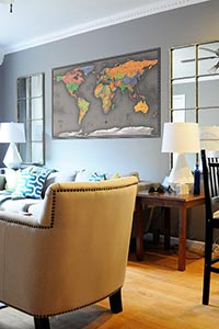 Cool Color World Map as Home Decor