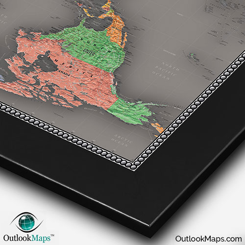 Cool color upside down world map reversed map world upside down modern map with black frame gumiabroncs Images
