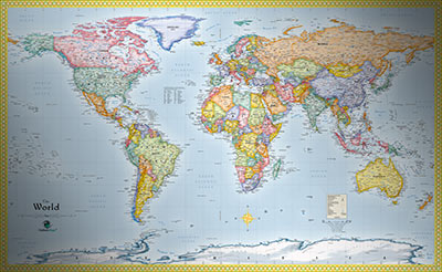 World political wall map standard world map very detailed world standard political map gumiabroncs Image collections