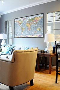 World Topographic Map as Home Decor