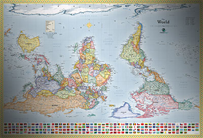 World upside down map with flags south up map upside down map of the world with flags gumiabroncs Image collections