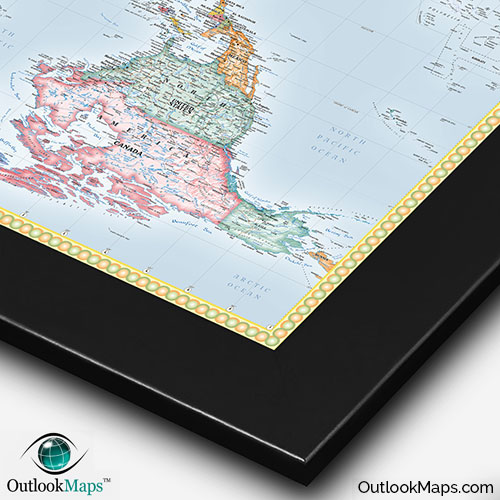 Upside down world map standard political map style upside down map of world with black frame gumiabroncs