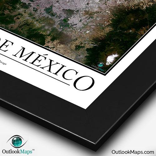 Ciudad De Mexico Satellite Map Print