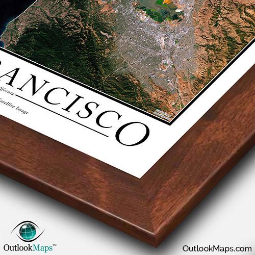 San Francisco Satellite Map Print